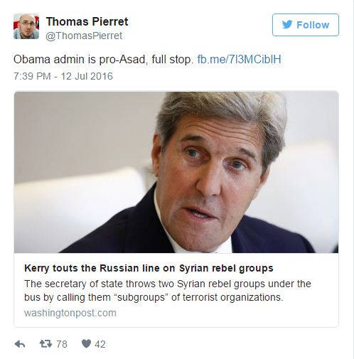 Kerry supporto Assad