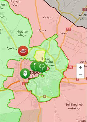 Mappa Aleppo Assad Siria Guerra civile