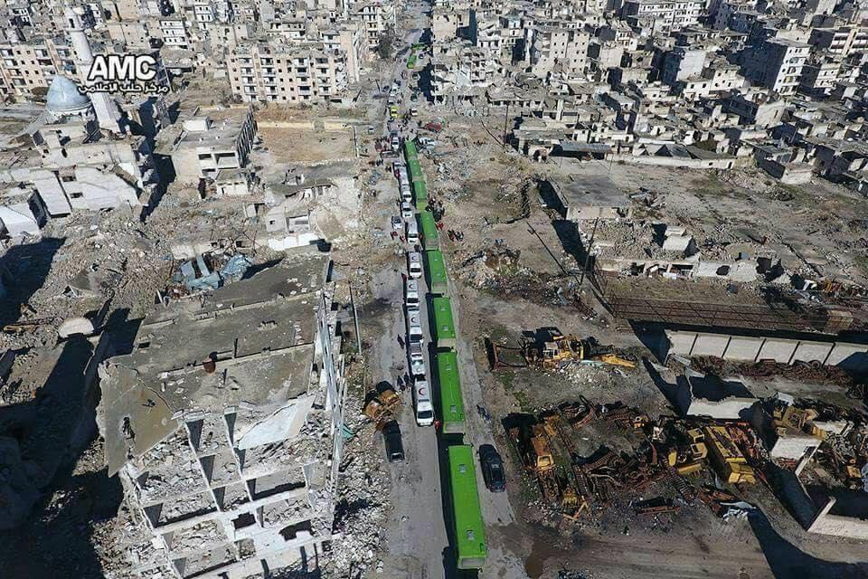 L'espulsione degli abitanti di Aleppo est, 18 dicembre 2016