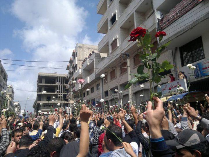 Daraya, periferia di Damasco, nel 2011