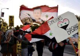 Proteste in supporto ad Assad_16 aprile 2018